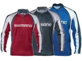 shimano technical long sleeve sublimated zip tee